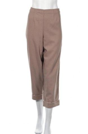 Γυναικείο παντελόνι Solutions, Μέγεθος XXL, Χρώμα Καφέ, Πολυεστέρας, βισκόζη, ελαστάνη, Τιμή 8,96€