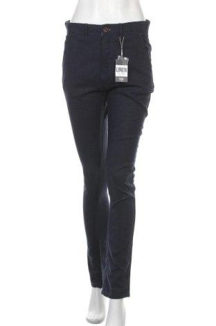 Дамски панталон Springfield, Размер M, Цвят Син, 63% лен, 37% вискоза, Цена 51,75лв.