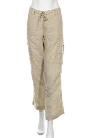 Γυναικείο παντελόνι Weekend Max Mara, Μέγεθος L, Χρώμα  Μπέζ, Λινό, Τιμή 47,44€