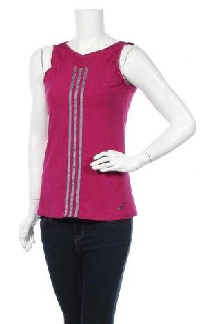 Γυναικείο αμάνικο μπλουζάκι Adidas, Μέγεθος M, Χρώμα Ρόζ , 82% πολυεστέρας, 18% ελαστάνη, Τιμή 10,49€