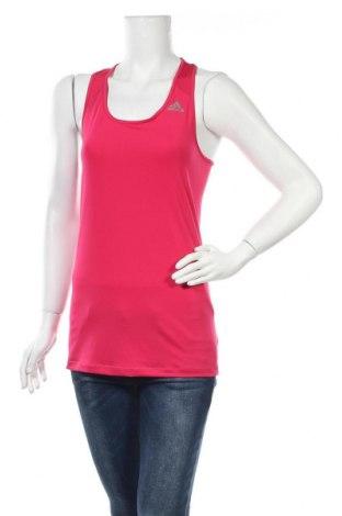 Γυναικείο αμάνικο μπλουζάκι Adidas, Μέγεθος M, Χρώμα Ρόζ , Τιμή 12,47€