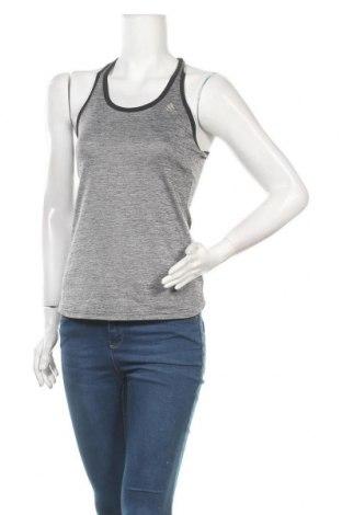Γυναικείο αμάνικο μπλουζάκι Adidas, Μέγεθος XS, Χρώμα Γκρί, Πολυεστέρας, Τιμή 11,69€