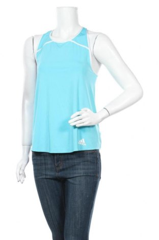 Γυναικείο αμάνικο μπλουζάκι Adidas, Μέγεθος S, Χρώμα Μπλέ, 84% πολυεστέρας, 16% ελαστάνη, Τιμή 10,72€