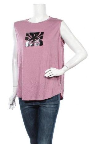 Γυναικείο αμάνικο μπλουζάκι Biba, Μέγεθος XL, Χρώμα Βιολετί, 93% βισκόζη, 7% ελαστάνη, Τιμή 13,07€