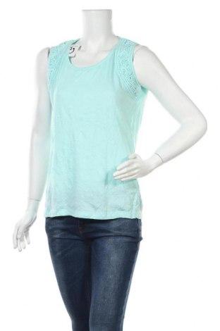 Γυναικείο αμάνικο μπλουζάκι Charles Vogele, Μέγεθος M, Χρώμα Μπλέ, 60% βαμβάκι, 40% πολυεστέρας, Τιμή 8,28€