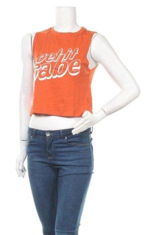 Дамски потник Gina Tricot, Размер S, Цвят Оранжев, 50% памук, 50% модал, Цена 3,00лв.