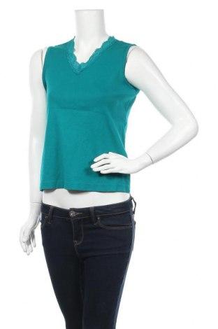 Дамски потник Karen Scott, Размер S, Цвят Зелен, Памук, Цена 13,44лв.