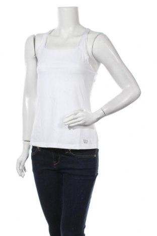 Γυναικείο αμάνικο μπλουζάκι Wilson, Μέγεθος M, Χρώμα Λευκό, 88% πολυεστέρας, 12% ελαστάνη, Τιμή 6,14€