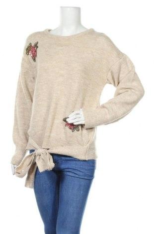 Дамски пуловер Freeman T. Porter, Размер XL, Цвят Бежов, 74% акрил, 18% полиестер, 7% еластан, Цена 11,00лв.