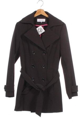 Дамски шлифер Calvin Klein, Размер XS, Цвят Черен, 92% полиестер, 8% полиуретан, Цена 50,26лв.