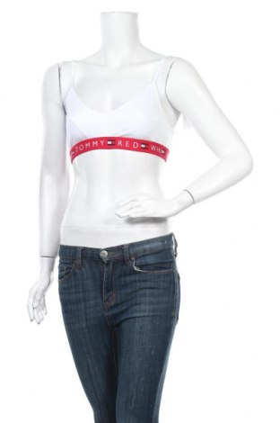 Дамски спортен топ Tommy Hilfiger, Размер M, Цвят Бял, 97% памук, 3% еластан, Цена 59,25лв.