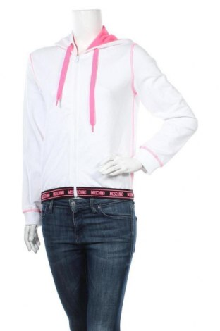 Дамски суичър Moschino underwear, Размер XS, Цвят Бял, 95% памук, 5% еластан, Цена 164,25лв.