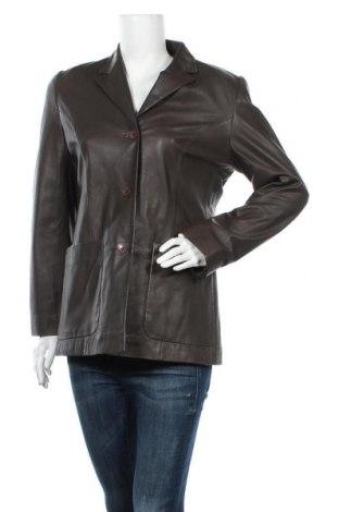Дамско кожено яке, Размер L, Цвят Кафяв, Естествена кожа, Цена 41,00лв.