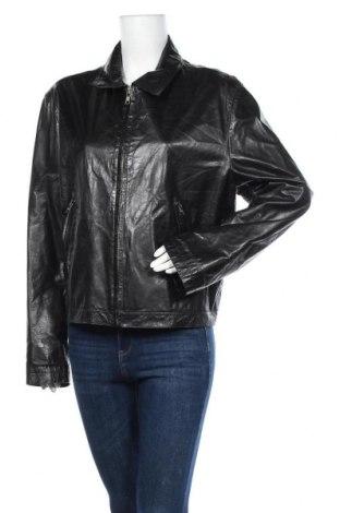 Дамско кожено яке Banana Republic, Размер L, Цвят Черен, Естествена кожа, Цена 38,33лв.