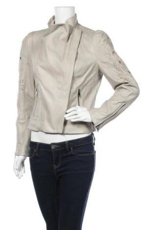 Γυναικείο δερμάτινο μπουφάν Desigual, Μέγεθος L, Χρώμα  Μπέζ, Δερματίνη, Τιμή 93,70€