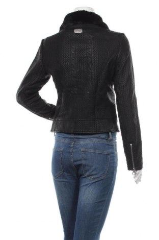 Дамско кожено яке Desigual, Размер M, Цвят Черен, Еко кожа, Цена 69,72лв.