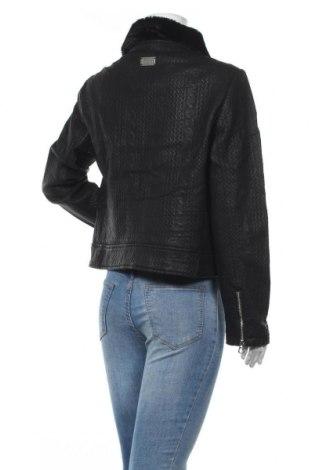 Дамско кожено яке Desigual, Размер XL, Цвят Черен, Еко кожа, Цена 69,72лв.