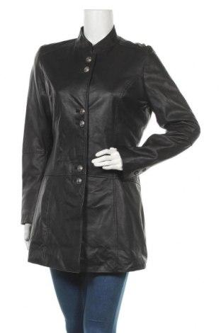Γυναικείο δερμάτινο μπουφάν Isaco & Kawa, Μέγεθος L, Χρώμα Μαύρο, Γνήσιο δέρμα, Τιμή 106,11€