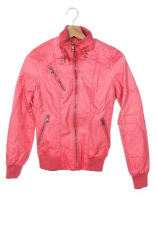 Дамско кожено яке Koroshi, Размер XS, Цвят Розов, Еко кожа, Цена 40,05лв.