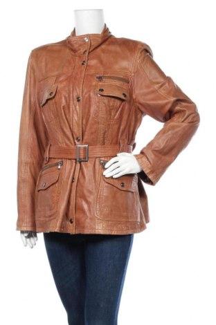 Дамско кожено яке TCM, Размер XXL, Цвят Кафяв, Естествена кожа, Цена 55,91лв.