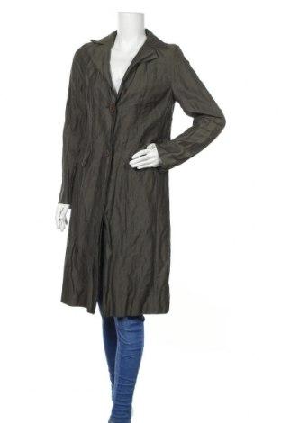 Γυναικείο παλτό Evelin Brandt, Μέγεθος S, Χρώμα Πράσινο, 64% βαμβάκι, 24% πολυεστέρας, 12% μεταλλικά νήματα, Τιμή 40,82€