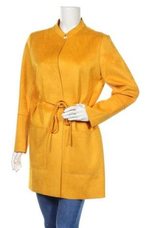 Дамско палто H&M, Размер XL, Цвят Жълт, 90% полиестер, 10% еластан, Цена 33,00лв.