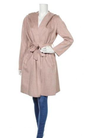 Дамско палто Zara, Размер L, Цвят Розов, 95% полиестер, 5% еластан, Цена 46,50лв.