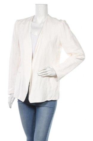 Дамско сако Adrienne Vittadini, Размер L, Цвят Бял, 55% лен, 45% вискоза, Цена 18,17лв.