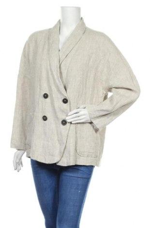Дамско сако Zara, Размер M, Цвят Бежов, Лен, Цена 66,75лв.