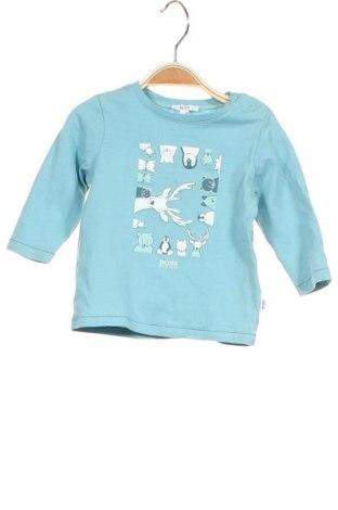 Детска блуза Hugo Boss, Размер 6-9m/ 68-74 см, Цвят Син, Памук, Цена 25,20лв.