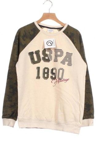 Детска блуза U.S. Polo Assn., Размер 11-12y/ 152-158 см, Цвят Бежов, Памук, Цена 20,16лв.