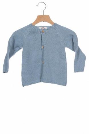 Детска жилетка Neck & Neck, Размер 18-24m/ 86-98 см, Цвят Син, 85% памук, 15% вълна, Цена 30,72лв.