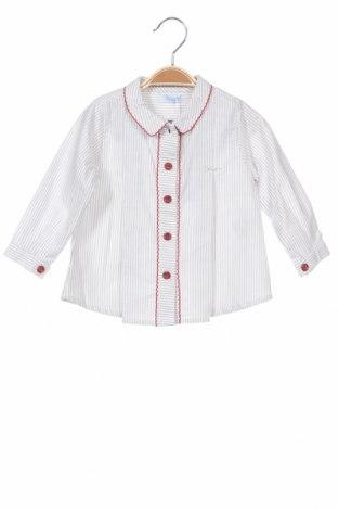 Детска риза Foque, Размер 9-12m/ 74-80 см, Цвят Сив, Памук, Цена 24,20лв.