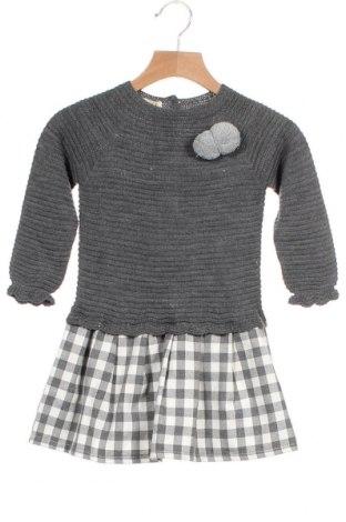 Παιδικό φόρεμα Lola Palacios, Μέγεθος 3-4y/ 104-110 εκ., Χρώμα Γκρί, 70% βαμβάκι, 30% πολυεστέρας, Τιμή 15,80€