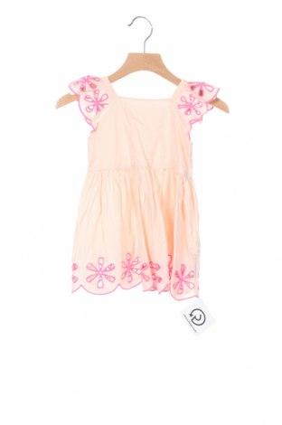 Детска рокля Stella McCartney Kids, Размер 9-12m/ 74-80 см, Цвят Розов, Памук, Цена 43,40лв.