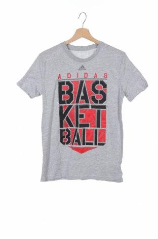 Παιδικό μπλουζάκι Adidas, Μέγεθος 14-15y/ 168-170 εκ., Χρώμα Γκρί, 90% βαμβάκι, 10% πολυεστέρας, Τιμή 13,58€