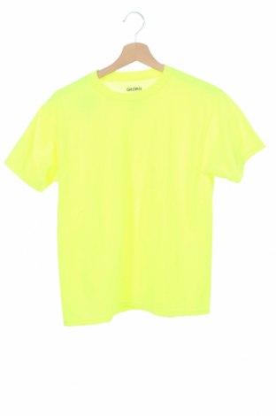 Παιδικό μπλουζάκι Gildan, Μέγεθος 15-18y/ 170-176 εκ., Χρώμα Κίτρινο, 50% βαμβάκι, 50% πολυεστέρας, Τιμή 9,74€