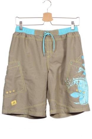 Παιδικό κοντό παντελόνι Adidas, Μέγεθος 15-18y/ 170-176 εκ., Χρώμα Καφέ, 100% πολυεστέρας, Τιμή 12,67€