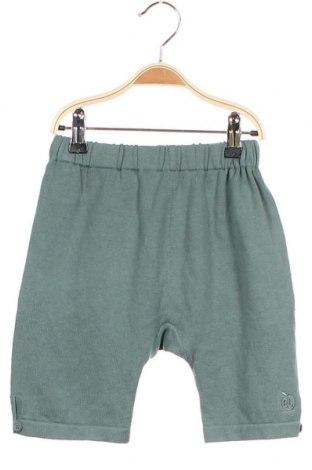 Детски къс панталон Bonnie baby, Размер 18-24m/ 86-98 см, Цвят Зелен, Памук, Цена 25,50лв.