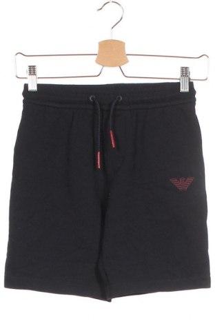 Детски къс панталон Emporio Armani, Размер 9-10y/ 140-146 см, Цвят Син, 89% памук, 11% полиестер, Цена 89,25лв.