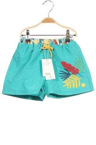 Παιδικό κοντό παντελόνι Tutto Piccolo, Μέγεθος 4-5y/ 110-116 εκ., Χρώμα Πράσινο, Πολυεστέρας, Τιμή 11,39€