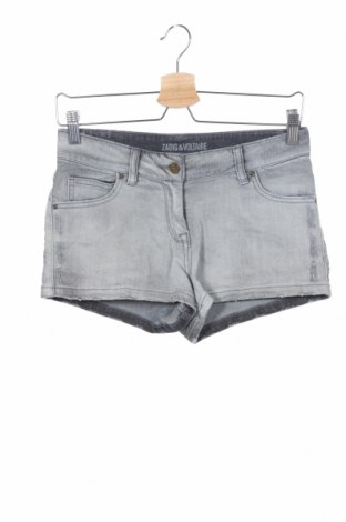 Детски къс панталон Zadig & Voltaire, Размер 13-14y/ 164-168 см, Цвят Сив, 98% памук, 2% еластан, Цена 32,20лв.