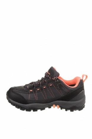 Детски обувки, Размер 35, Цвят Сив, Еко кожа, текстил, естествен велур, Цена 39,33лв.