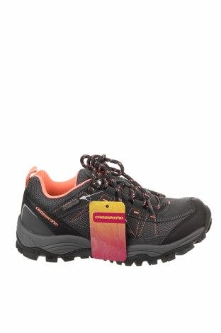 Детски обувки, Размер 33, Цвят Сив, Еко кожа, текстил, естествен велур, Цена 33,81лв.