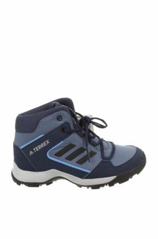Детски обувки Adidas, Размер 32, Цвят Син, Текстил, еко кожа, Цена 74,25лв.