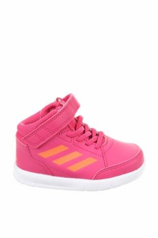 Детски обувки Adidas, Размер 23, Цвят Розов, Еко кожа, Цена 66,75лв.