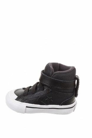 Детски обувки Converse, Размер 18, Цвят Черен, Естествена кожа, текстил, Цена 74,25лв.