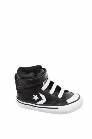 Детски обувки Converse, Размер 21, Цвят Черен, Естествена кожа, еко кожа, Цена 74,25лв.