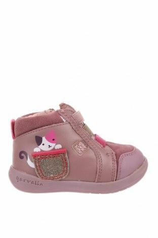 Παιδικά παπούτσια Garvalin, Μέγεθος 18, Χρώμα Ρόζ , Γνήσιο δέρμα, φυσικό σουέτ, Τιμή 17,32€