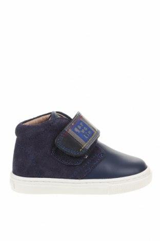 Παιδικά παπούτσια Garvalin, Μέγεθος 20, Χρώμα Μπλέ, Φυσικό σουέτ, γνήσιο δέρμα, Τιμή 17,32€
